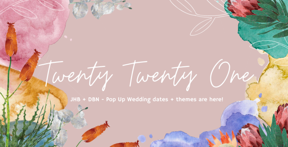 7 Pop Up Wedding themes for 2021